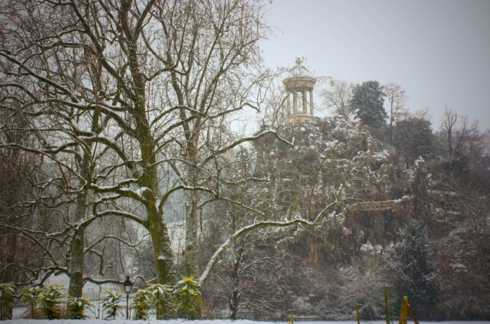 parc buttes chaumont iarna
